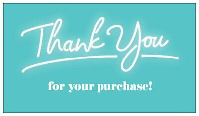 Thank You For Your Purchase Business Cards Teal Thank You Cards