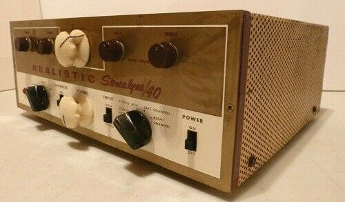 Vintage Realistic Stereolyne 40 Amplifier Tube Tested and Functioning
