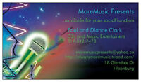DJ or live musician available for your Company Party