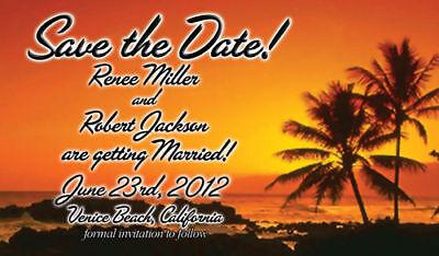 100 Save the Date Wedding Invitation Magnets BeachTheme