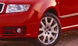 16'' SKODA FABIA VRS alloys 5x100 VW golf III VR6 IV bora POLO 9N 6R audi a1 2 3