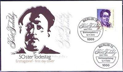 Berlin 1985: Kurt Tucholsky FDC der Nr 748 mit zwei Ersttagssonderstempeln! 1711