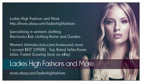 Ladies High Fashions and More!