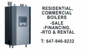 RESIDENTIAL & COMMERCIAL BOILERS. SALE, FINANCING, RTO, RENTAL