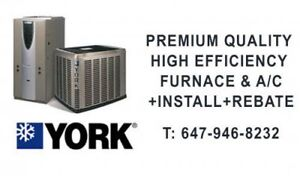 PREMIUM QUALITY HIGH EFFICIENCY FURNACE & A/C+INSTALL+REBATE