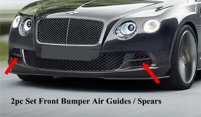 2013-2015 Bentley Continental GTC W12 Air Guides Spears (Set) (UNPAINTED)