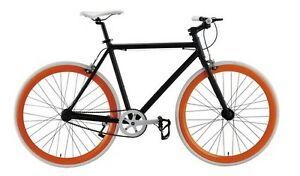 Black & Orange 50cm Summer Bike FIXIE Road Bike BICYCLES Single Speed Aluminum