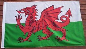 GIANT WELSH FLAG, ST. DAVID FLAG, RED DR
