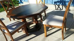 Solid Wood Table (Octagon shape) Peterborough Peterborough Area image 5
