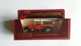 MATCHBOX MODEL OF YESTERYEAR FIRE ENGINE.