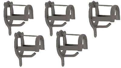 5 stabile Trensenhalter Metall pulverbeschichtet Trensenhaken Zaumzeughalter