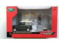 BRITAINS NEW LANDROVER AND TRAILER SET.
