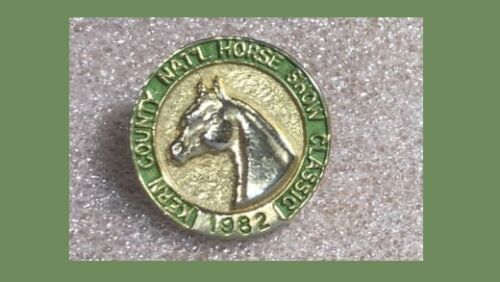 1982 Kern County Nattional Horse Show Classic, Vintage Western Pin,RODEO,Equine
