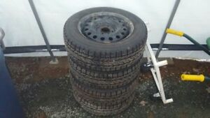 Snow Tires/rims - 195/65R15, four hole rims