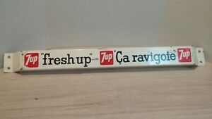 vintage 7up push bar! (french)