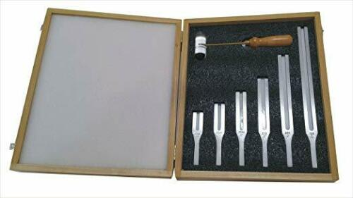 Tuning Fork Set of 6 with Wooden Box and Acrylic Mallet …