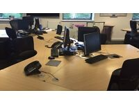 FREE: X12 Commercial office desks + pedestals - MUST be collected this week