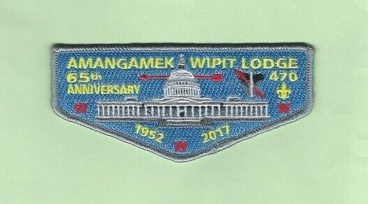 AMANGAMEK WIPIT LODGE 470 - 65TH ANNIVERSARY LODGE FLAP  NATIONAL CAPITAL AREA C