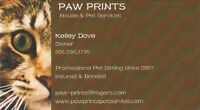 PAW PRINTS -Professional Cat Sitter,Cat Sitting,INSURED!