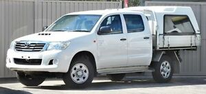 2012 Toyota Hilux KUN26R MY12 SR (4x4) White 5 Speed Manual Dual Cab Chassis Lismore Lismore Area Preview