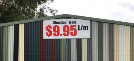 $9.95 l/m Zinc Corrugated, Trimdeck, Monoclad, Next day delivery