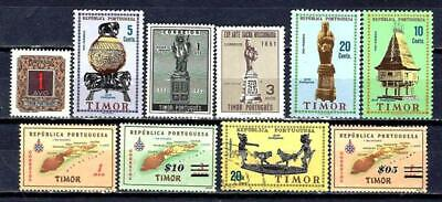 Portugal Timor (2) 10 Stamps Different New