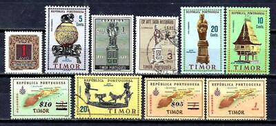 Portugal Timor (1) 10 Stamps Different New