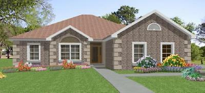 Custom House Home Building Plans 3 bed Split Ranch 1884 sf---PDF FULL PERMIT SET