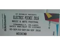 Electric Picnic 2016 Music & Arts Festival Weekend ticket