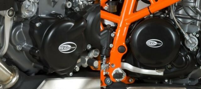 R&G Engine Case Cover PAIR KTM 690 Duke 2012- / R 2013- Husqvarna 701 KEC0049BK