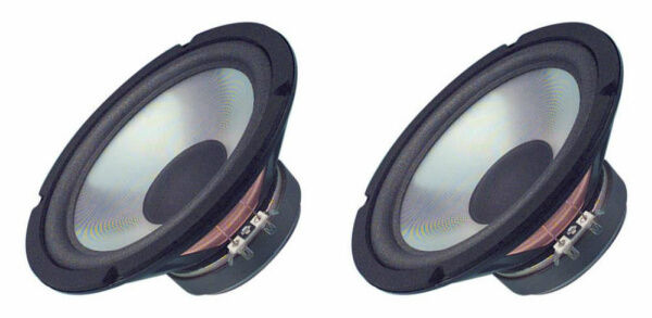 "NEW (2) 8"" Woofer Speakers.Home Audio.Replacements.8ohm.Woofer PAIR.bass.8inch"