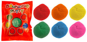 12 Bouncing Putty Bags - Pinata Toy Loot/Party Bag Fillers Wedding/Kids
