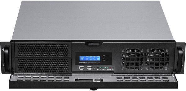 "2U LCD (Lock Door)(Micro-ATX/ITX) (2x5.25""+2xHDD Bay)Rackmount D:14.96"" Case NEW"