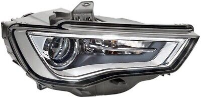 Fits audi a3 2012 to 2015 headlight xenon chrome offside r/h w/led drl