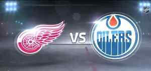 4 Oilers vs Detroit Red Wings Club Seats Way Below Face Value!