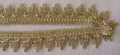 Design Gold Trim (10 Yards Metallic Ribbon Trim. Light Gold Victorian Design DIY)