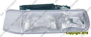 Head Light Passenger Side High Quality Chevrolet Silverado 1999-2002