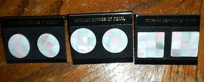 WHOLESALE CLEARANCE-12 MOTHER OF PEARL SHELL INLAID STUD POST EARRINGS-NEW