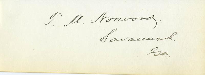 THOMAS MANSON NORWOOD - SIGNATURE(S)