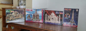 3 D Puzzles New in Box take them all!