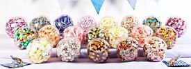 Chair cover, decoration and sweetie buffet