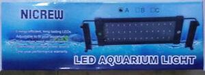 Nicrew LED Aquarium Light with 60 White & 12 Blue LEDs, 11 Watts