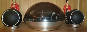 Vintage Electrohome Apollo Dome Bubble Stereo Turntable Speakers