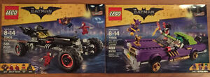 Lego Batmobile and Lego Joker Lowrider