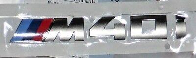 BMW OEM ///M40i Cerium Grey Tri-Color Trunk Badge G01 X3 2018+ Brand New