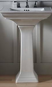 "Kohler Memoirs Ceramic 25"" Pedestal Sink- Three Hole - ($225)"