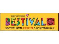 BESTIVAL festival adult camping ticket from 7th Sep - 11th Sep.