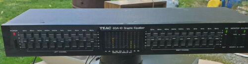 Vintage TEAC EQA-10 w/ 10-Band Graphic Equalizer and Spectrum Display Tested