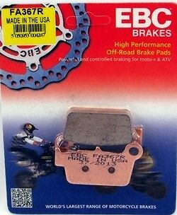 YAMAHA YZ125 EBC REAR SINTERED BRAKE PADS FA367R FITS YEARS 2003 TO 2016