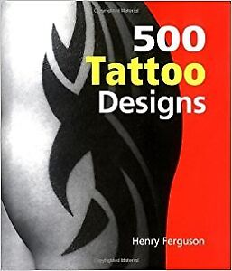 500 Tattoo Designs Book, small hardcover 256 pages